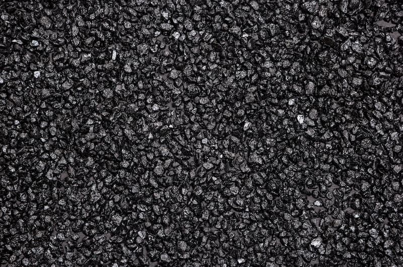 Large amount of anthracite grains
